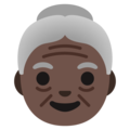 Old Woman: Dark Skin Tone on Google Android 12.0