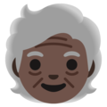 Older Person: Dark Skin Tone on Google Android 12.0