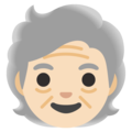 Older Person: Light Skin Tone on Google Android 12.0