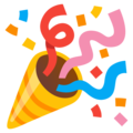 Party Popper on Google Android 12.0