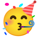 Partying Face on Google Android 12.0