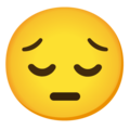 Pensive Face on Google Android 12.0