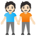 People Holding Hands: Light Skin Tone on Google Android 12.0