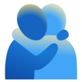 People Hugging on Google Android 12.0