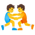 People Wrestling on Google Android 12.0