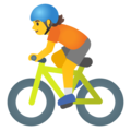 Person Biking on Google Android 12.0