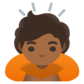 Person Bowing: Medium-Dark Skin Tone on Google Android 12.0
