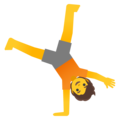 Person Cartwheeling on Google Android 12.0