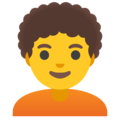 Person: Curly Hair on Google Android 12.0