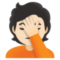 Person Facepalming: Light Skin Tone on Google Android 12.0