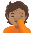 Person Facepalming: Medium Skin Tone on Google Android 12.0
