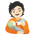 Person Feeding Baby: Light Skin Tone on Google Android 12.0
