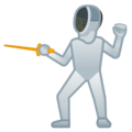 Person Fencing on Google Android 12.0