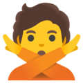 Person Gesturing No on Google Android 12.0