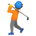 Person Golfing on Google Android 12.0