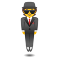 Person in Suit Levitating on Google Android 12.0