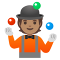 Person Juggling: Medium Skin Tone on Google Android 12.0