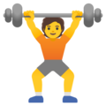 Person Lifting Weights on Google Android 12.0