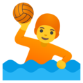 Person Playing Water Polo on Google Android 12.0