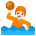 Person Playing Water Polo: Light Skin Tone on Google Android 12.0