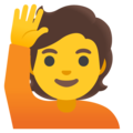 Person Raising Hand on Google Android 12.0