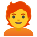 Person: Red Hair on Google Android 12.0