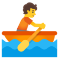 Person Rowing Boat on Google Android 12.0
