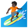 Person Surfing: Dark Skin Tone on Google Android 12.0