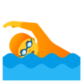 Person Swimming on Google Android 12.0