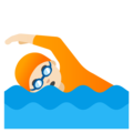 Person Swimming: Light Skin Tone on Google Android 12.0
