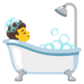 Person Taking Bath on Google Android 12.0