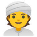Person Wearing Turban on Google Android 12.0