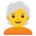 Person: White Hair on Google Android 12.0
