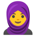Woman with Headscarf on Google Android 12.0