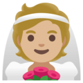 Person With Veil: Medium-Light Skin Tone on Google Android 12.0