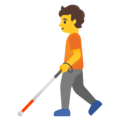 Person with White Cane on Google Android 12.0