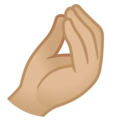 Pinched Fingers: Medium-Light Skin Tone on Google Android 12.0
