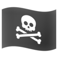 Pirate Flag on Google Android 12.0