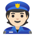 Police Officer: Light Skin Tone on Google Android 12.0