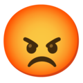 Pouting Face on Google Android 12.0