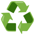 Recycling Symbol on Google Android 12.0