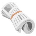 Rolled-Up Newspaper on Google Android 12.0
