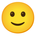 Slightly Smiling Face on Google Android 12.0