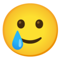 Smiling Face with Tear on Google Android 12.0