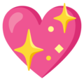 Sparkling Heart on Google Android 12.0