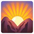 Sunrise Over Mountains on Google Android 12.0