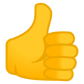Thumbs Up on Google Android 12.0