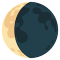 Waning Crescent Moon on Google Android 12.0