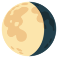 Waning Gibbous Moon on Google Android 12.0