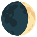 Waxing Crescent Moon on Google Android 12.0